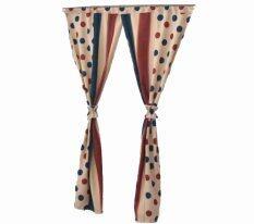 ทบทวน ที่สุด Room Story ผ้าม่านหน้าต่าง Vintage Curtain รุ่น Polka Dot ครีม น้ำเงิน แดง