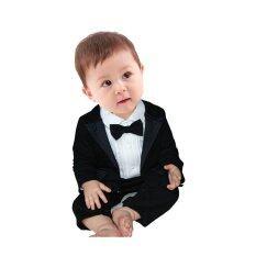 Rorychen เด็กชาย 2 ชิ้นชุดสุภาพบุรุษ กึ่งทางการ Romper เสื้อ ใหม่ล่าสุด