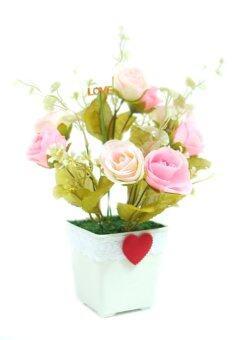 Rose Bee วาเลนไทน์ กุหลาบ กลม 10 x 10 x 25 - Pink