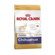ราคา Royal Canin Chihuahua Junior 500 G อาหารสุนัขพันธุ์ชิวาวา ช่วงหย่านม 8 เดือน 500กรัม Royal Canin ใหม่