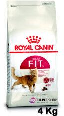 Royal Canin Fit 32 4 Kg โรยัลคานิน อาหารสำหรับแมวโตอายุ 1 ปีขึ้นไป ขนาด 4 กิโลกรัม *** หมดอายุ 15/06/2020 *** By T.u. Pet Shop.