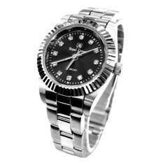 ซื้อ Royal Crown นาฬิกาข้อมือหญิง สายสแตนเลสอย่างดี รุ่น 3662L Black Silver