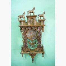 ซื้อ Rtt นาฬิกาไม้สักทอง ม้า3ตัว ถูก กรุงเทพมหานคร