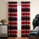 ส่วนลด สินค้า Rural Style Curtain Red Fabric Polyester Door Window Curtain 140X220Cm Intl