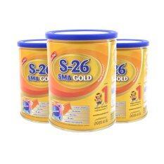 ขาย S 26 Sma Gold นมผง เอส 26 เอสเอ็มเอโกลด์ แพ็ค 3 กระป๋อง ถูก ใน Thailand
