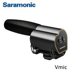 Saramonic Vmic Super Cardioid Shotgun Condenser Video Microphone For Dslr Cameras ใหม่ล่าสุด