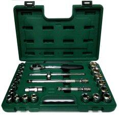 ซื้อ Sata เครื่องมือช่าง Socket Set บล็อกชุด รู1 2 6เหลี่ยม 24ตัวชุด รุ่น 09060 6 Sata ถูก
