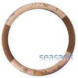 ราคา ราคาถูกที่สุด Seasans Rilakkuma Steering Cover ที่ครอบพวงมาลัย หมีแอปเปิ้ลสีเข้ม