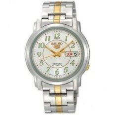 ทบทวน ที่สุด Seiko นาฬิกา 5 Automatic Silver Gold Stainless Strap Snkl95K1