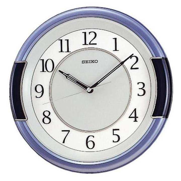 ซื้อที่ไหน SEIKO นาฬิกาแขวนผนัง ขอบสีฟ้าเทาหน้าฟ้า/ขาว รุ่น QXA272L