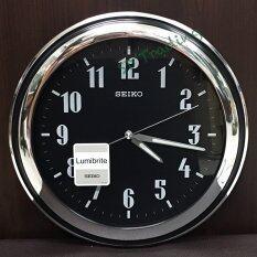 ขาย Seiko นาฬิกาแขวนผนัง ตัวเลขสะท้อนแสง สีเงินสลับดำ รุ่น Qxa313T ราคาถูกที่สุด
