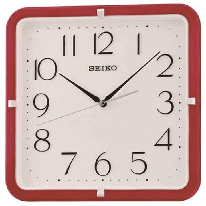 รีวิว SEIKO นาฬิกาแขวนผนังสี่เหลี่ยม 11″ ขอบแดง รุ่น QXA653R