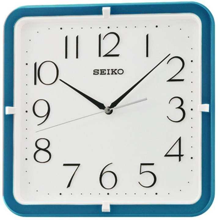 """SEIKO นาฬิกาแขวนผนังสี่เหลี่ยม 11"""" ขอบฟ้า รุ่น QXA653L"""