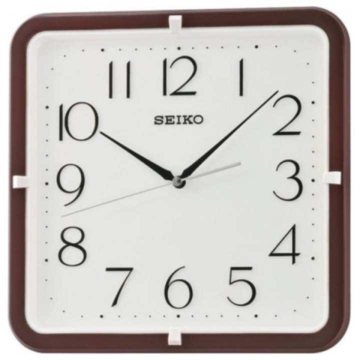 แนะนำ SEIKO นาฬิกาแขวนผนังสี่เหลี่ยม 11″ ขอบน้ำตาล รุ่น QXA653B