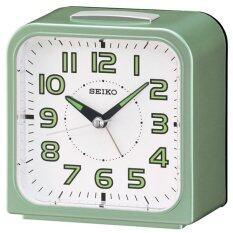 ขาย Seiko นาฬิกาตั้งปลุก Bell Alarm มีพรายน้ำ รุ่น Qhk025M Seiko