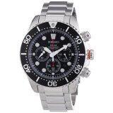 ราคา Seiko Prospex Solar Chronograph Diver S 200 M นาฬิกาข้อมือผู้ชาย สีดำ เงิน สายสแตนเลส รุ่น Ssc015P1 ใหม่ล่าสุด