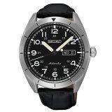 ราคา Seiko นาฬิกาข้อมือผู้ชาย Sports 5 Automatic สายหนังแท้ สีเงิน สีดำ รุ่น Srp715K1 ไทย