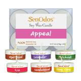 ราคา Senodos Emotional Scented Soy Candles Aroma Appeal เทียนหอมอโรม่า ขนาดพกพา ขนาดทดลอง ไม้หอมกฤษณา กุหลาบ ลาเวนเดอร์ แพทชูลี่ ไม้หอมแก่นจันทร์ กระดังงา เป็นต้นฉบับ Senodos