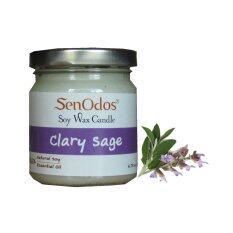 ซื้อ Senodos เทียนหอม อโรม่า Clary Sage Scented Soy Candle Aroma 190 G กลิ่นแครี่เซจแท้ ออนไลน์ ถูก