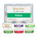 ขาย Senodos กลิ่นสงบพักผ่อน Emotional Soy Candles Aroma Relax เทียนหอมอโรม่า ขนาดพกพา ขนาดทดลอง ลาเวนเดอร์ ยูคาลิปตัส เปปเปอร์มินต์ มะลิ สเปียร์มินต์ กุหลาบ Senodos ผู้ค้าส่ง