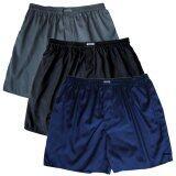 ขาย Set 3 ตัว กางเกงในชาย ไหมไทยผสมโพลียีสเตอร์ สีดำ น้ำเงิน เทา ออนไลน์ ใน กรุงเทพมหานคร