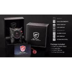 ราคา Shark นาฬิกาข้อมือ Gulpershark 1St Collection Red Black เป็นต้นฉบับ