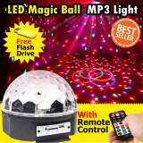 ซื้อ Shop108 Led Magic Ball Light Mp3 Remote Control ไฟดิสโก้เทคมิวสิค รุ่น Mq 06 Mp3 ใหม่