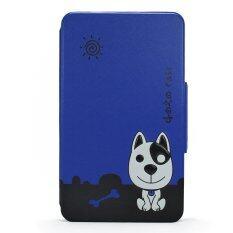 Siam Tablet Shop case for True Smart Tab Gen Me รุ่น Dozo Dog (สีน้ำเงิน)