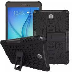 "SiamTabletShop Hybrid Outdoor Protective Case for For Samsung Tab A 9.7 ""- สีดำ"