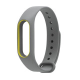 ซื้อ Silicon Strap For Xiaomi Mi Band 2 Replaceable Belt For Miband 2 Grey Yellow ถูก