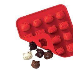 ราคา Silicone Zone พิมพ์ทำช็อคโกแลต รูปคิตตี้และเพื่อน Silicone Zone เป็นต้นฉบับ