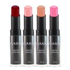 ทบทวน ที่สุด Sivanna Colors ลิปสติก เนื้อแมท Matte Lipstick Hf308 4 แท่ง Set3