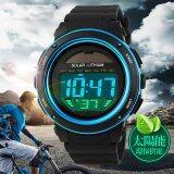 ส่วนลด Skmein1096คนนาฬิกากันน้ำพลังงานแสงอาทิตย์ระบบดิจิตอลนาฬิกาข้อมือกีฬาทหารNmasculino สีน้ำเงิน