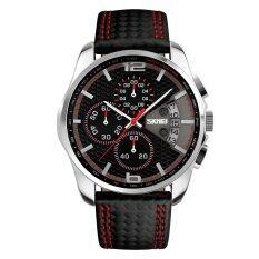 ขาย Skmei นาฬิกาสปอร์ตชายสายหนัง รุ่น 9106 Red ถูก