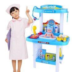 โปรโมชั่น Smartbabyandkid โต๊ะคุณหมอพร้อมของ24ชิ้น สีฟ้า ไทย