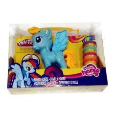 ส่วนลด Smartbabyandkid ชุดแป้งโดว์แต่งตัวม้าโพนี่ สีฟ้า Smartbabyandkid ใน ไทย