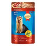 Smartheart Pouch สุนัขโต รสเนื้อวัวชิ้นในน้ำซอส 130G 12 Units เป็นต้นฉบับ