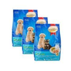 ราคา Smartheart Puppy ลูกสุนัข รสไก่ ไข่และนม 1 5Kg 3ถุง ถูก
