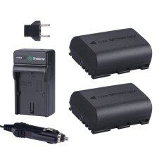 Smatree Replacement Battery (2-Pack) and Battery Charger for Canon LP-E6, LP-E6N