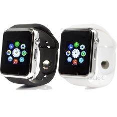 ซื้อ Smile C นาฬิกาโทรศัพท์ Smart Watch รุ่น A1 Phone Watch แพ็ค 2 ชิ้น Black White Smile C ถูก
