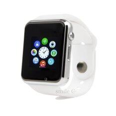 ทบทวน ที่สุด Smile C นาฬิกาโทรศัพท์ Smart Watch รุ่น A1 Phone Watch White