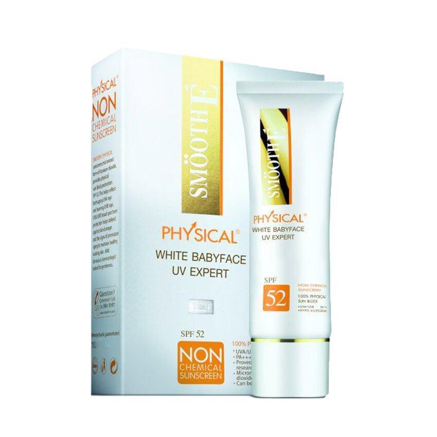SMOOTH E Physical White Babyface UV Expert สีเบจ 40 กรัม (1กล่อง)