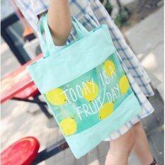 ราคา Sodaming Shop กระเป๋าถือ สะพาย ผ้าแคนวาส Pvc พิมพ์ลายน่ารักๆ รุ่น Bp4837 สีเขียว Sodaming Shop กรุงเทพมหานคร