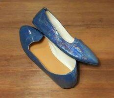 ส่วนลด สินค้า Softbox รองเท้าคัทชู ส้นเตี้ย หัวแหลม สีปรอท
