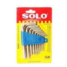 ราคา Solo โซโล ประแจ หกเหลี่ยม 10 ชิ้น ชุด ร่น 902Mm สีเงิน ออนไลน์