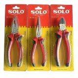 Solo คีมปากตัด คีมปากแหลม คีมปากจิ้งจก 3ตัว ชุด เป็นต้นฉบับ
