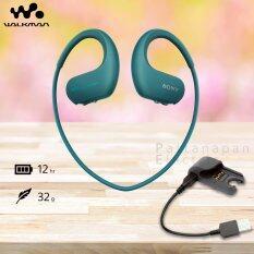 SONY หูฟังเครื่องเล่น MP3 กันน้ำ ความจุ 4GB รุ่น NW-WS413 (สี Blue) + ตัวชาร์จ BCR-NWWS410