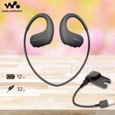 SONY หูฟังเครื่องเล่น MP3 กันน้ำ ความจุ 4GB รุ่น NW-WS413 (สีดำ) + ตัวชาร์จ BCR-NWWS410