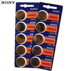 ราคา Sony ถ่านกระดุม Sony Cr2032 Lithium 3V 2 แพ็ค 10 ก้อน ออนไลน์ กรุงเทพมหานคร