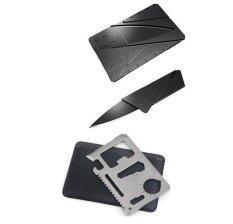 Sp การ์ดมีดพกพา สีดำ 2 ชิ้น การ์ด Multitool 11 In 1 สีเงิน เป็นต้นฉบับ